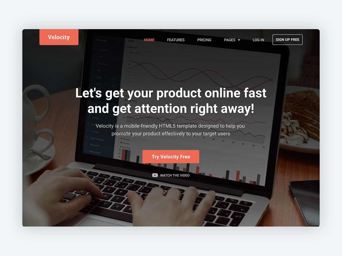 Velocity Bootstrap 4 Theme For Promoting Your Startup