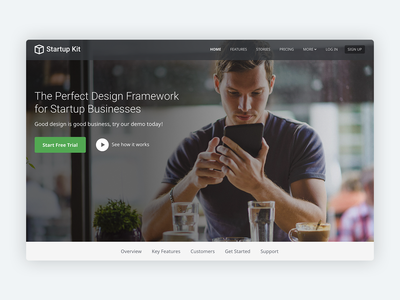 Startup Kit – Bootstrap 4 Theme for SaaS Startups saas landing page saas bootstrap template product developer theme css html5 html template startup marketing responsive landing page bootstrap theme bootstrap 4 website template bootstrap
