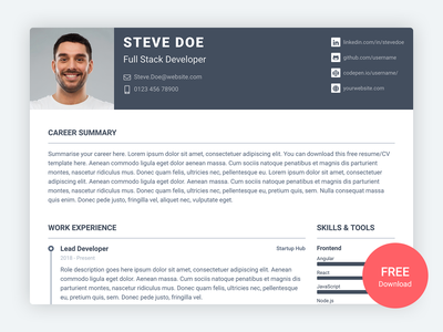 Pillar – Free Bootstrap 4 Resume/CV Template for Developers software development developers career free template resume cv free bootstrap template html responsive bootstrap theme css html5 bootstrap 4 website template theme bootstrap