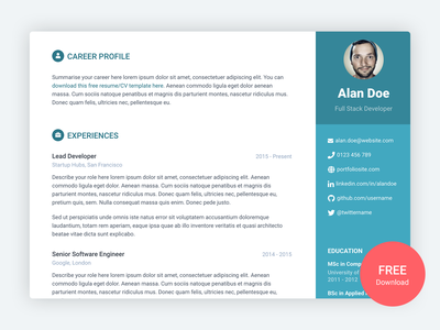 Orbit - Free Bootstrap 4 Resume/CV Template for Developers responsive bootstrap template resume template resume cv template cv developer html landing page bootstrap theme css html5 bootstrap 4 website template theme bootstrap