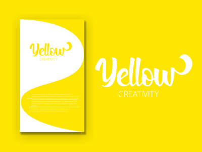 Yellow Creativity ui poster poster design illustration design branding
