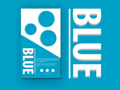 Blue Event minimal ux illustration ui poster design poster branding design