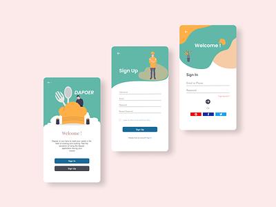 Dapoer App Concept vector app ui ux design
