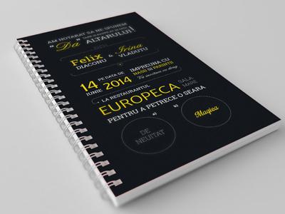 Invitation notebook mockup