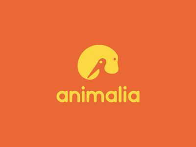 animalia logo design logo foundations planet earth bio foundation pet negative space mammal bird animal