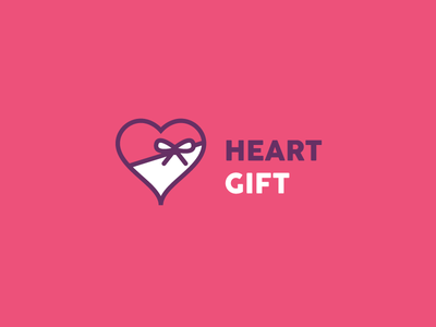 Heart Gift care give friendship love red pik for sale logo ribbon present gift heart