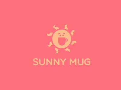 Sunny Mug laugh smile summer heat logo beverage tea drink energy joy positive coffee mug sun