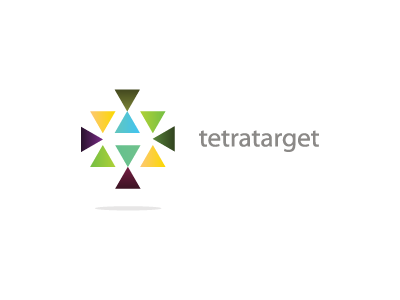 tetratarget logo brand triangle tetra four colors target anghelaht abstract