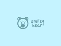 smiley bear light blue version