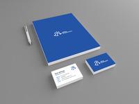 Letterhead blue back blue business cards