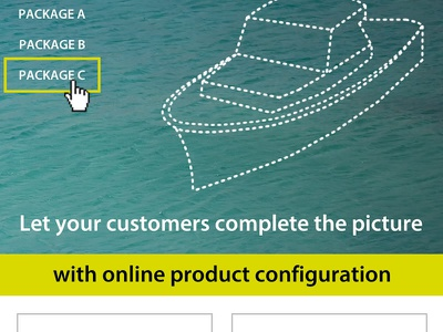 Product Configurator Flyer Concept flyer brochure boat water