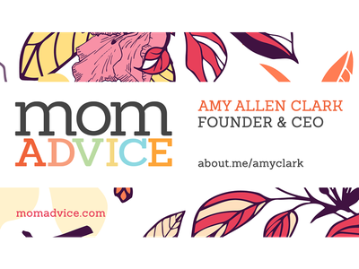 MomAdvice Business Card business card floral