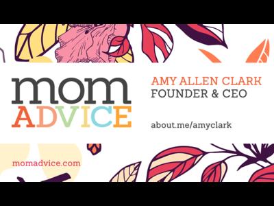 MomAdvice Business Card