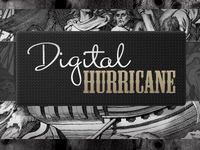 New Digital Hurricane Header logo header monochrome fireworks