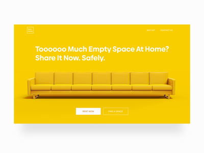 Renting Spare Space At Home living home renting rental branding adobe xd website webdesign uidesign ui