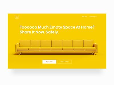 Renting Spare Space At Home living home renting rental branding adobe xd website webdesign uidesign ui