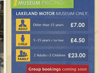 Museum Pricing Table