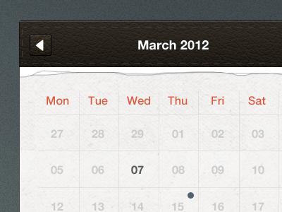 Calendar UI freebie ui os x free