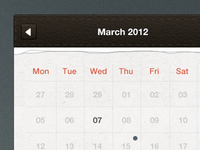 Calendar UI freebie