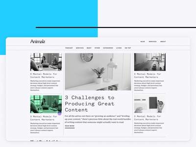 Animalz Blog typography ux ui blog design blog animalz