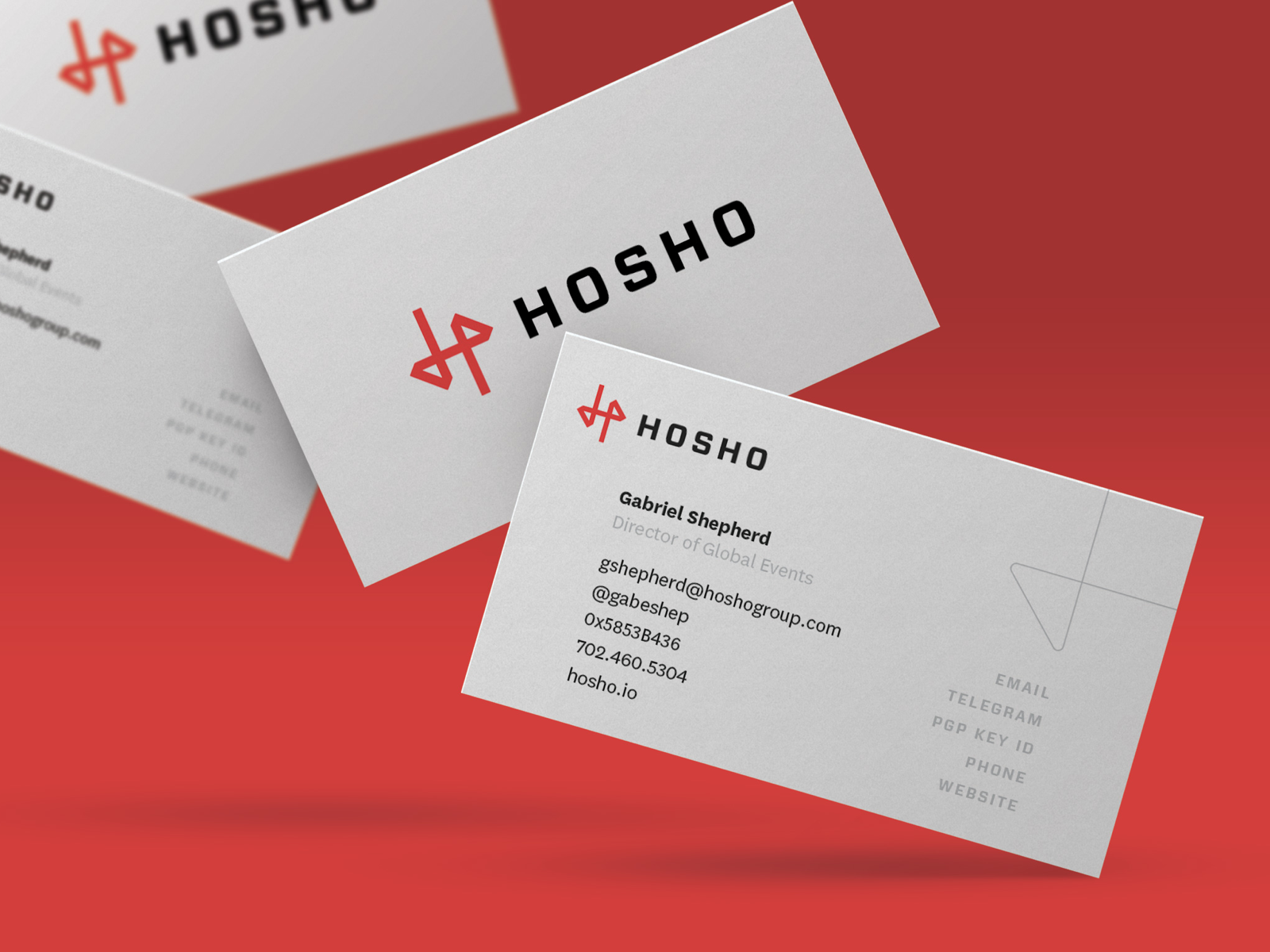 Hosho business cards 2x