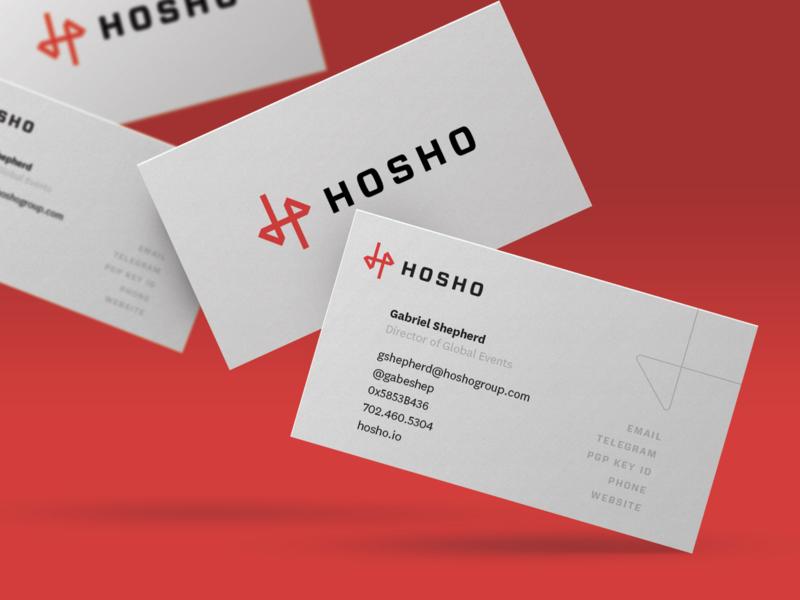 Hosho Branding & Business Cards crypto blockchain style guide business cards branding