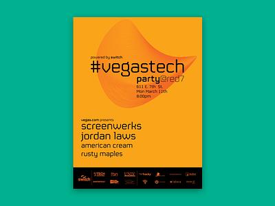 #vegastech Posters poster branding