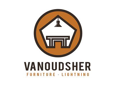 Vanoudsher Furniture Logo lighting furniture fox brand identity logo