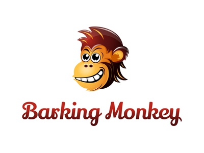 Barking Monkey Logo monk barking animal monkey