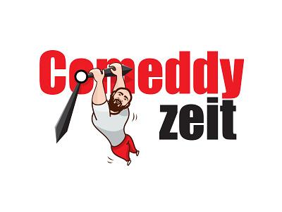 Comeddy Zeit Logo For Edo Rapper caricature cartoon performer clown comic comedy song rapper