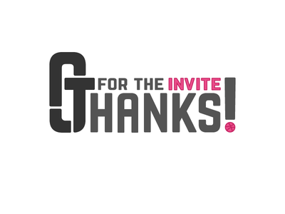 Thanks AJT! first shot noob dribbble initials invite thanks debut