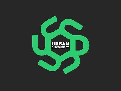 Urban Disconnect Logo disconnect urban disconnect logo design branding logo