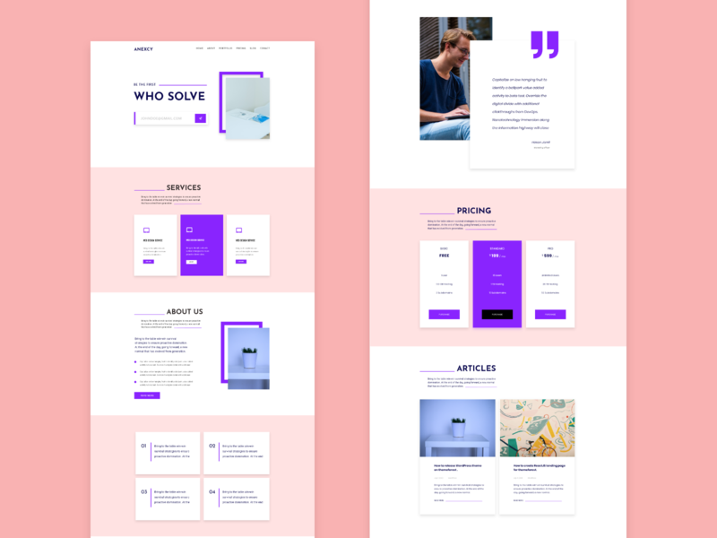 Agency landing page exploration 2 web website landing page concept agency website ui design landing page uiux ui agency