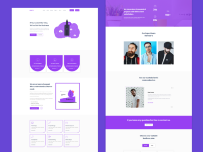 Lency - Agency & Business Landing page design agency website agency home page design website landing page design web ux ui