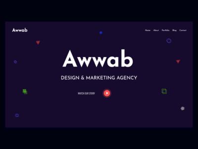Awwad - Header/Hero Section Design header design header exploration website hero area ux web ui design web design webdesign
