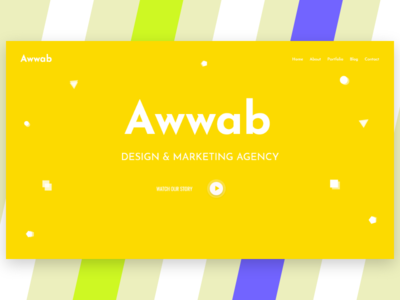 Awwab header/hero section color 2