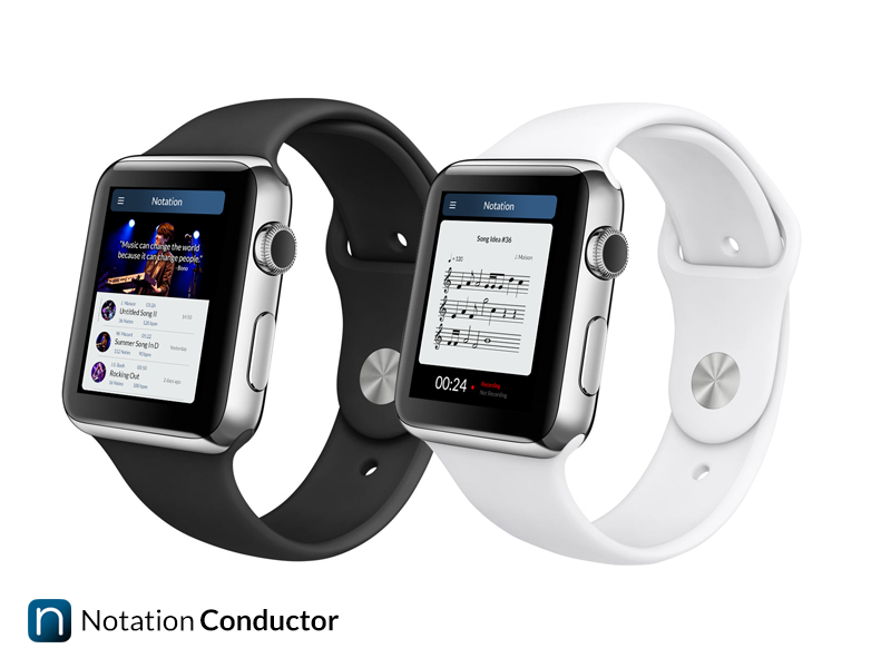 Notation Conductor for Apple Watch  apple watch  apple watch design ui ux notation mockup ios ios8 iphone