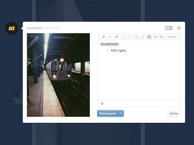 New post on tumblr [suggestion]