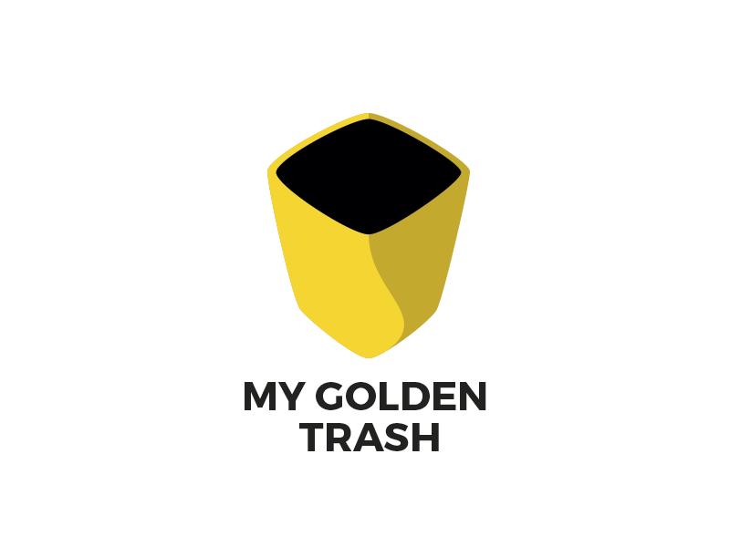 My Golden Trash golden trash gold logo project