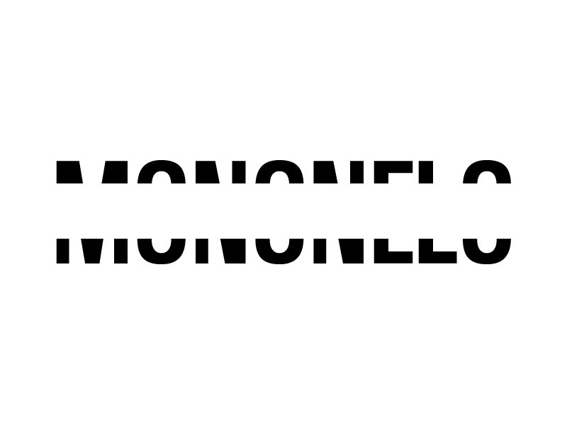Some gap in de middle monogram logo mononelo name
