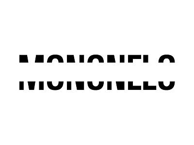 Some gap in de middle monogram logo mononelo name