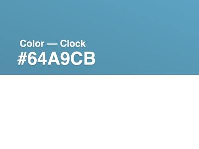 Color  ––  Clock