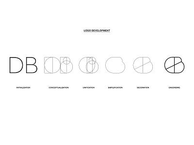 DB logo development branding vector illustrator design development db logo