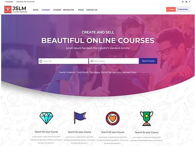 JSLMS Theme Home -4 branding vector app ui website web ux logo design