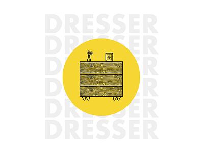 Dresser furniture illusration dresser