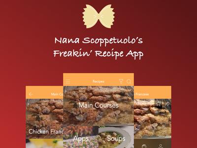 Nana's Recipes App ios recipes recipe scoppetuolo app nana