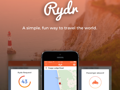 Rydr - 3rd World Uber taxi adventure travel uber app ios rydr