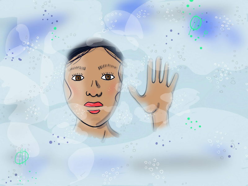 Experimenting with fog and layers layers art digital woman fog illustration