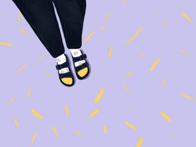 Socks and sandals sockgame socks illustration