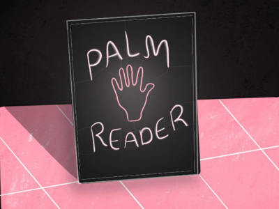 Palm Reading future mystic neon sign palmreading